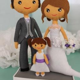 Muñecos personalizados con niña-N&A&M