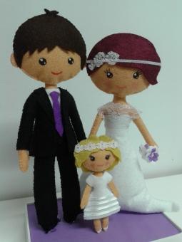 Muñecos personalizados con niña-E&G